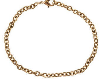Finished Chain Bracelet Wholesale Chain 7.5 Inch Chain Bracelet Gold Chain Bracelet Cable Chain Bracelet Chain Gold Bracelet CLEARANCE