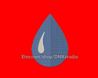 Water Drop Embroidery Design - 6 Sizes - INSTANT DOWNLOAD