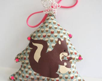 "Hanging Christmas decoration, ""squirrel"" theme."