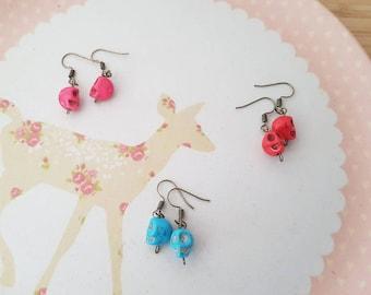 Earrings skull, choose colors
