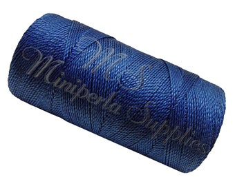 Spool of thread macramé waxed Linhasita - blue