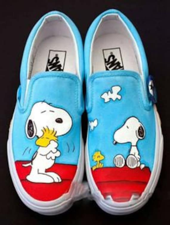hand Vans Peanuts Shoes Snoopy painted Zzq7px