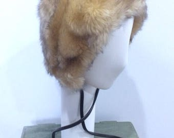 1960s vintage original faux fur winter hat.