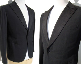 Vintage Cifonelli Jacket Mens Bespoke Black Wool Blazer M – Made for Tonio Selwart