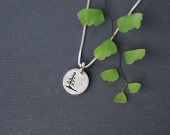 Sterling Silver Tree Pendant, Tree Pendant, Little Tree Pendant, Nature Jewelry, Sitka Tree Jewelry, Silver Pendant, Simple Jewelry