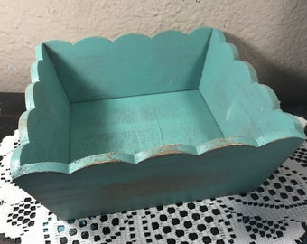 Shabby Chic Country Farmhouse Distressed Decorative Basket