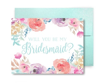 Bridesmaid Proposal Card Will You Be My Bridesmaid Card Bridesmaid Maid of Honor Gift Matron of Honor Brides Man Flower Girl #CL198