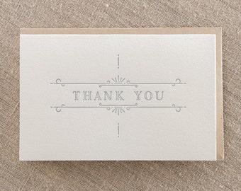 Thank You Ornate Grey