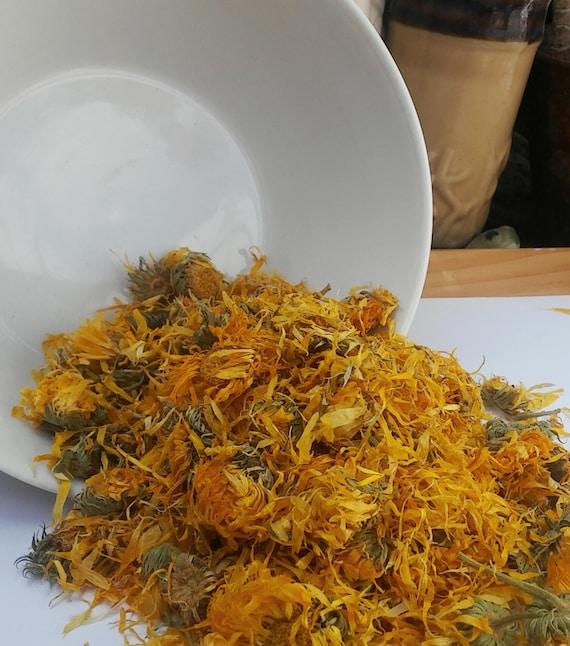 Organic Calendula Petal Bath Tea and Face Steam - Irritated Skin Bath Soak, Facial, Bath Spa, Foot Soak