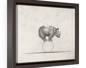Exercise of equilibrium - Horizontal Framed Premium Gallery Wrap Canvas Size: 10″ × 8″