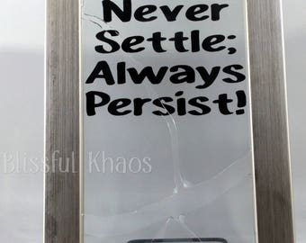 Persist Artwork, Broken Glass Ceiling Frame, Office Desk Decor, Nevertheless She Persisted, Gift for Coworker, Empower Her, Boss Gift