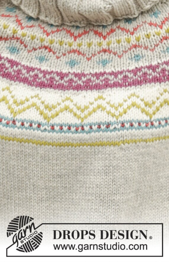 Fair Isle poncho custom made alpaca knit mantle soft knit