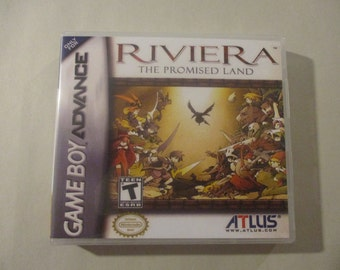 Riviera: The Promised Land Custom GBA/GameBoy Advance  Case (***NO GAME***)