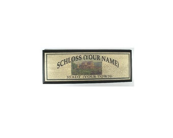 Personalized German Castle (Schloss) Sign- Add any name