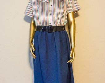 Vintage stripped polyester dress
