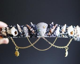 The NIGHT & DAY Mermaid Crown / headband / headdress with Swarovski crystal details