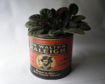 Vintage Rare Sir Walter Raleigh Tobacco Tin