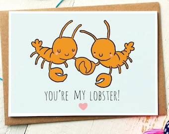 Youre My Lobster - Anniversary Card - Funny Love Card - Friends TV Show - Boyfriend Card - Girlfriend Card - Husband Card - Wife Card