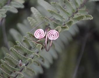 Adjustable copper ring, knuckle ring, knuckle's ring, knuckles ring, spiral knuckle ring, copper spiral knuckle ring, adjustable copper ring
