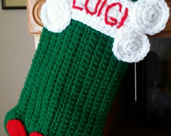 Crochet Personalized Dog Stocking