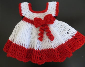 Christmas baby dress 0-3 m, girl dress, christmas gift