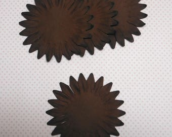 Large 2 x brown paper flower