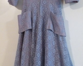 "50's Vintage Claudia Young Lace Overlay ""I Love Lucy"" Dress"