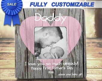 FIRST FATHERS DAY First Fathers Day Gift From Daughter Son New Dad Daddy Father New Daddy Gift Personalized Picture Frame For Husband Dad