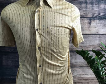 Vintage Lanvin Button up egyptian cotton Sz 5 fits like a Mens S