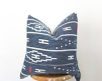 Authentic African Ikat Textile Pillow Cover