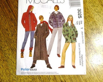 ELEGANT A-Line Fall Jacket / Hooded Classic Coat / Duster Jacket - Size (Xsm - Sm - Med) - UNCUT ff Sewing Pattern McCalls 3025