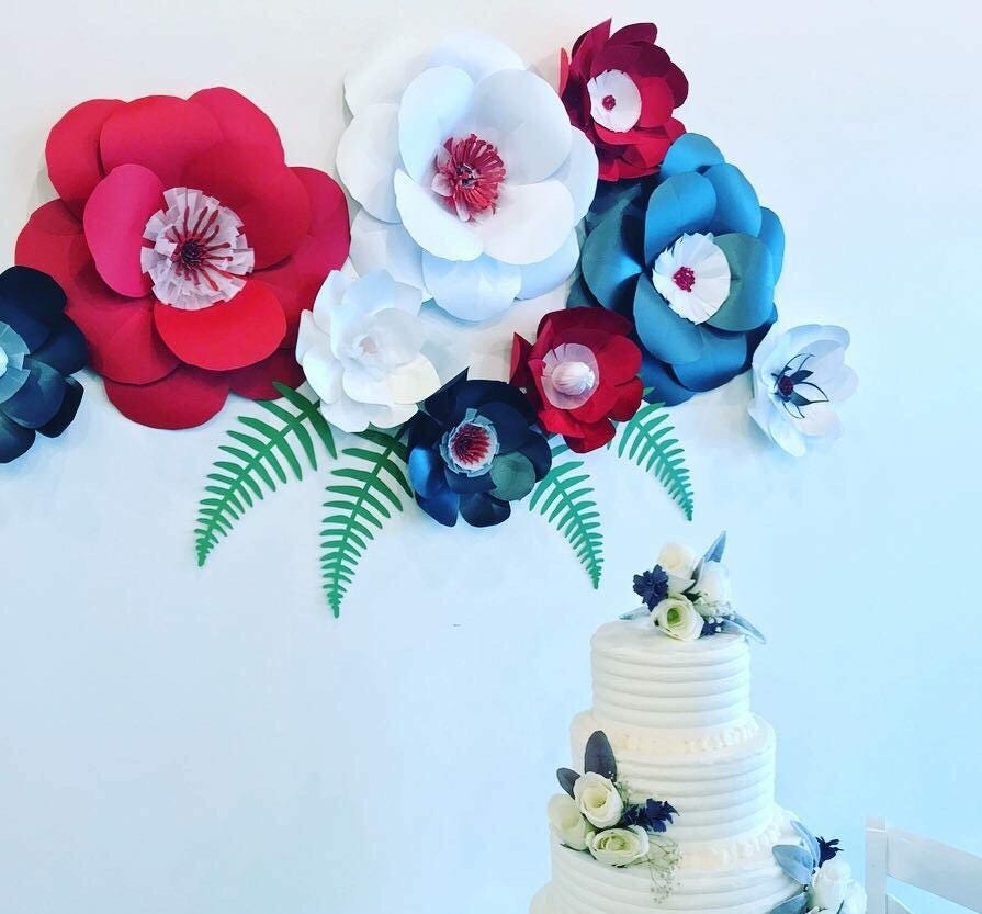 Paper flowers red wall decor black paper flowers red paper flowers paper flowers red wall decor black paper flowers red paper flowers red wall backdrop red wedding backdrop dining room decor red party decor mightylinksfo Gallery