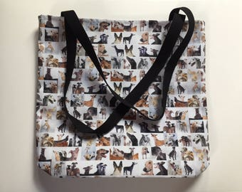 Collage GREYHOUNDS Medium Tote Bag