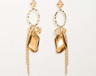 0003-Golden Shadow Swarovski Crystal Chandeliers