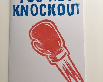 Knockout Hand Carved + Printed Greeting Card