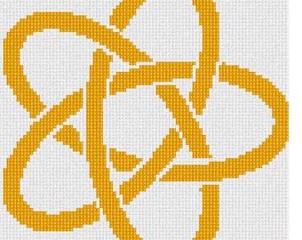 Needlepoint Kit or Canvas: Celtic Knot 8