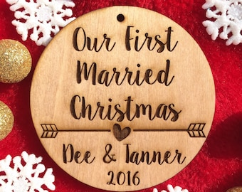 our first married christmas wedding gift for newlywed