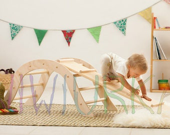 Pikler Climbing Arch with Reversible Board / Climbing equipment / Montessori baby / Waldorf