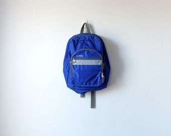 90s Blue LL Bean Backpack - 90s Backpack - Vintage Backpack - 90s Knapsack - Blue Backpack - Blue Knapsack - Vintage LL Bean - 90s Preppy