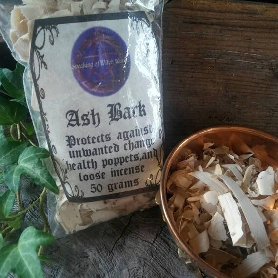 Ash Bark, Ash Wood, Ash For Poppets, Ash For Incense Making, Ash Wood For Spells, Ash Tree