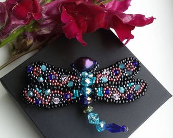 Handmade  dragonflies brooches.