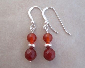 carnelian earring sterling silver dangle