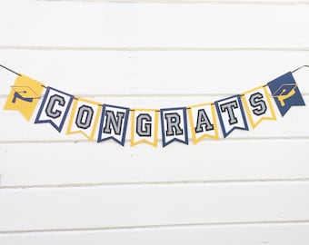 Congrats Banner - Graduation Decorations - Graduation Banner - Graduation Party Decorations - Graduation Decor - Graduation-Graduation Party