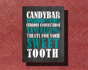 Fun Chalkboard Wedding Candy Bar Sign