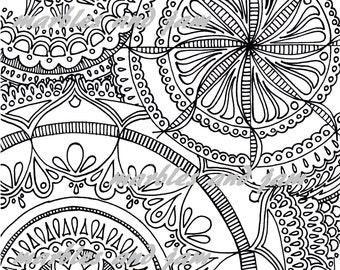 Tri Mandala Printable Adult Coloring Page