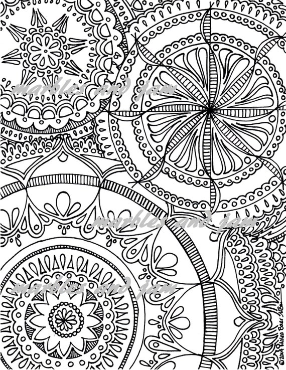 Popolare Tri Mandala da colorare stampabili adulto JI27