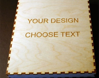 Custom Laser Cut Box With Your Text And Graphics