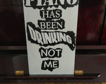 Tom Waits wood painting:  The Piano has been Drinking