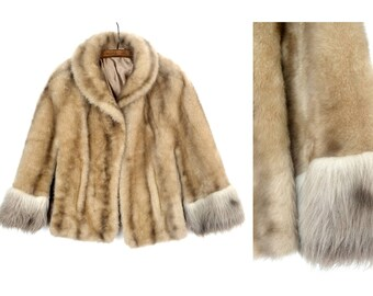 1970s faux fur cape / sheepskin trim / Backstage bolero / Bohemian cape