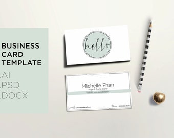 Elegant business card / Creative business card / Modern calling card / Minimal business card design / Simple business card